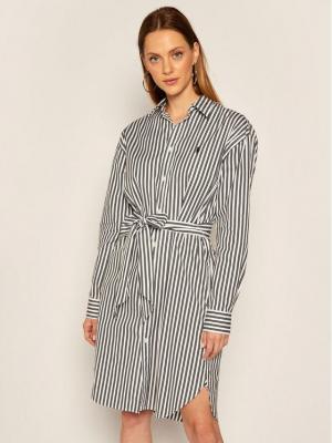 Polo Ralph Lauren Sukienka koszulowa Striped 211781122005 Biały Regular Fit