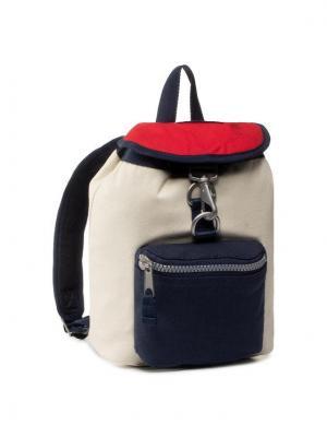 TOMMY HILFIGER Plecak Tjw Hertitage Sm Backpack Canvas AW0AW08280 Biały