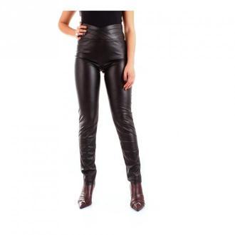 Patrizia Pepe 8L0369 / A1Dz Legginsy Spodnie Czarny Dorośli Kobiety