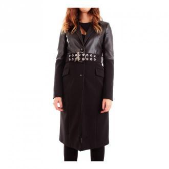 Patrizia Pepe 8S0335 / A6F5 Długi płaszcz Płaszcze Czarny Dorośli
