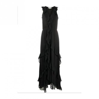 Solid Ruffle Maxi Dress Dresses