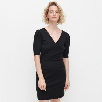 Reserved - Sukienka z krótkim rękawem - Czarny