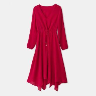 Mohito - Plisowana sukienka Eco Aware - Czerwony