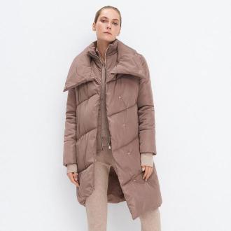 Mohito - Asymetryczny płaszcz Eco Aware - Brązowy