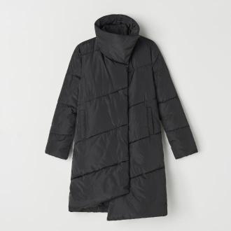 Mohito - Asymetryczny płaszcz Eco Aware - Czarny