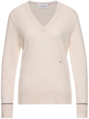 Calvin Klein Sweter K20K201316 Beżowy Regular Fit