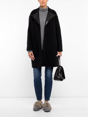 Marella Płaszcz przejściowy 30160998 Czarny Regular Fit