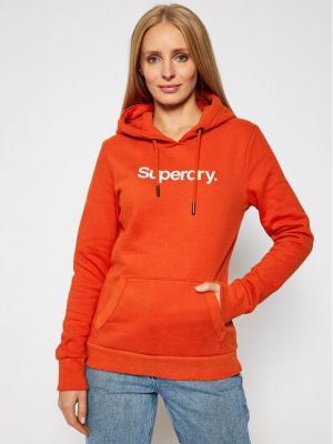Superdry Bluza Patina W2010375A Pomarańczowy Regular Fit