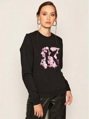 KARL LAGERFELD Bluza Orchid K Print 205W1852 Czarny Regular Fit