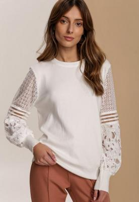 Biały Sweter Fuelcoat