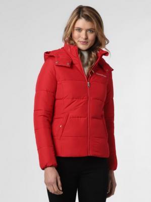 Calvin Klein Jeans - Damska kurtka pikowana, czerwony