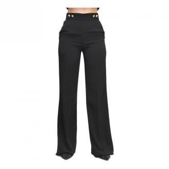Pinko Spodnie z High Life Złote Guziki Spodnie Czarny Dorośli Kobiety
