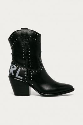 Karl Lagerfeld - Kowbojki skórzane