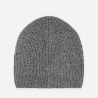 Reserved - Dzianinowa czapka w prążek - Szary