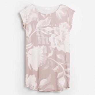 Reserved - Bawełniana koszula nocna w kwiaty - Brązowy