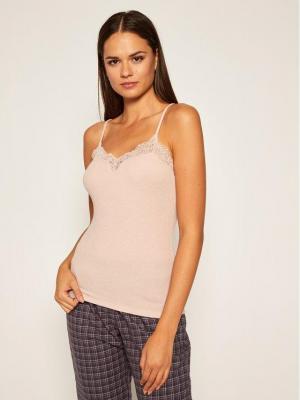 Triumph Koszulka piżamowa Camisole 10205626 Różowy Regular Fit
