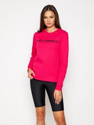 KARL LAGERFELD Bluza Graffiti Logo 206W1800 Różowy Regular Fit