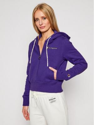 Champion Bluza Hooded 113187 Fioletowy Custom Fit