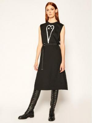 Diesel Sukienka codzienna D-Fairy A00112 0HAXP Czarny Regular Fit