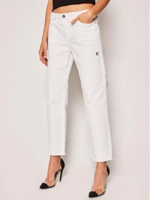 KARL LAGERFELD Jeansy Straight Fit Denim 201W1104 Biały Regular Fit
