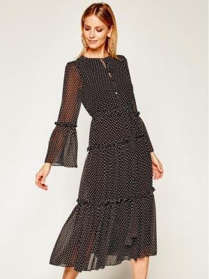 MICHAEL Michael Kors Sukienka codzienna MF98XT8CDY Czarny Regular Fit