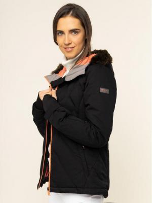 Roxy Kurtka narciarska Breeze ERJTJ03211 Czarny Slim Fit