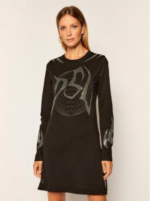 Diesel Sukienka codzienna T-Rossina A00262 0PAZL Czarny Regular Fit