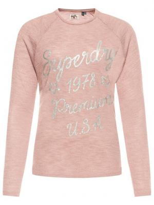 Superdry Sweter Parton Graphic W6000020A Różowy Regular Fit