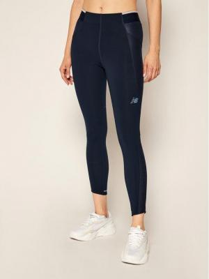 New Balance Legginsy Q Speed Fuel WP03264 Granatowy Fitted Fit