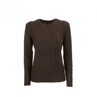 Ralph Lauren Cable knit wool and cashmere sweater Swetry i bluzy