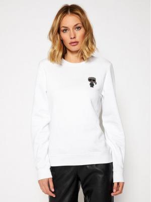 KARL LAGERFELD Bluza Ikoniki Mini 206W1815 Biały Regular Fit