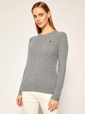 Polo Ralph Lauren Sweter Julianna Wool/Cashmere 211525764009 Szary Regular Fit