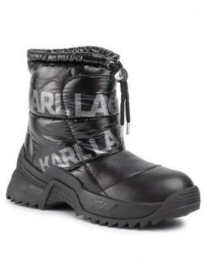 KARL LAGERFELD Botki Snow Mid Ankle KL61550 Czarny