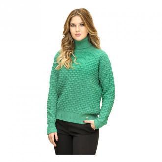 Pinko Turtleneck pullover Swetry i bluzy Zielony Dorośli Kobiety