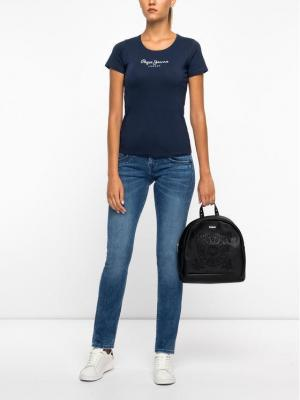 Pepe Jeans Jeansy Straight Leg PL201157GS12 Granatowy Straight Fit