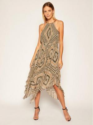 MICHAEL Michael Kors Sukienka letnia Del 2 MU08ZY8EMP Brązowy Regular Fit