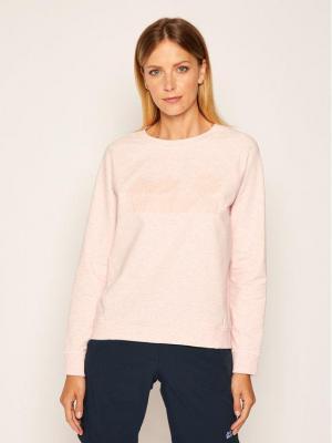 Jack Wolfskin Bluza Logo Sweatshirt 1708261 Różowy Regular Fit