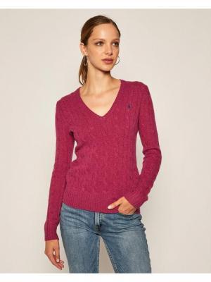 Polo Ralph Lauren Sweter Kimberly Wool/Cashmere 211508656070 Różowy Regular Fit