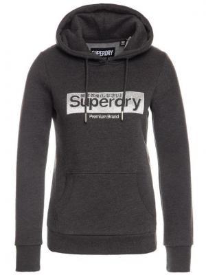 Superdry Bluza Premium Brand Emb W2000084B Szary Regular Fit