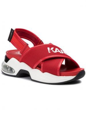 KARL LAGERFELD Sandały KL61705 Czerwony