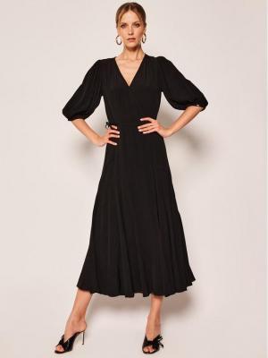 Calvin Klein Sukienka codzienna Wrap K20K201955 Czarny Regular Fit