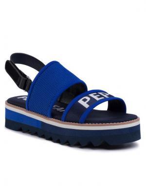 Pepe Jeans Sandały Ella Nari PLS90451 Niebieski