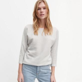 Reserved - Bawełniany sweter - Srebrny