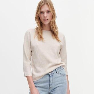Reserved - Bawełniany sweter - Różowy