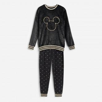 Reserved - Piżama ze spodniami Mickey Mouse - Czarny