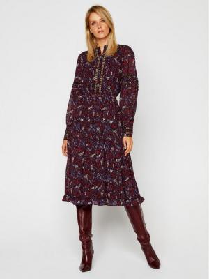 MICHAEL Michael Kors Sukienka codzienna Paisley Georgette and Lace Ruffled MF0800UFFS Kolorowy Regular Fit
