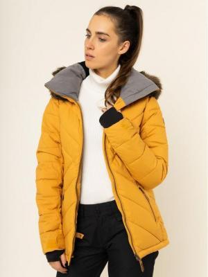 Roxy Kurtka snowboardowa Quinn ERJTJ03227 Żółty Tailored Fit