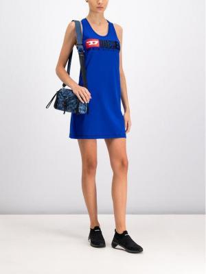 Diesel Sukienka codzienna T-Silk 00SM87 0CATJ Niebieski Regular Fit