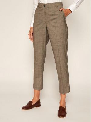 TOMMY HILFIGER Spodnie materiałowe Pow Check WW0WW28127 Szary Slim Fit