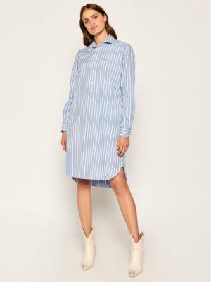 Polo Ralph Lauren Sukienka koszulowa 211797756001 Niebieski Regular Fit
